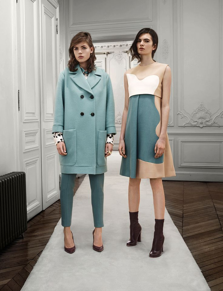 Chloe Pre-Fall 2013. Beautiful colours - the turquoise would look great with leopard print