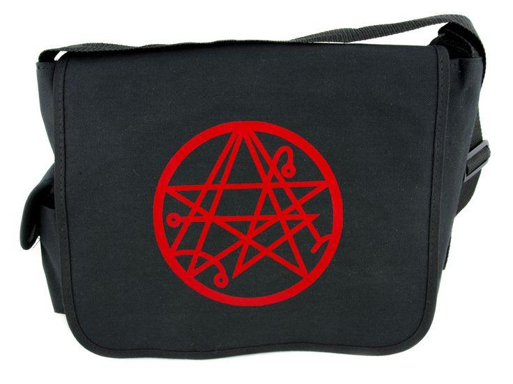 Red Necronomicon Symbol Messenger Bag Crossbody Handbag Gate to the Dead