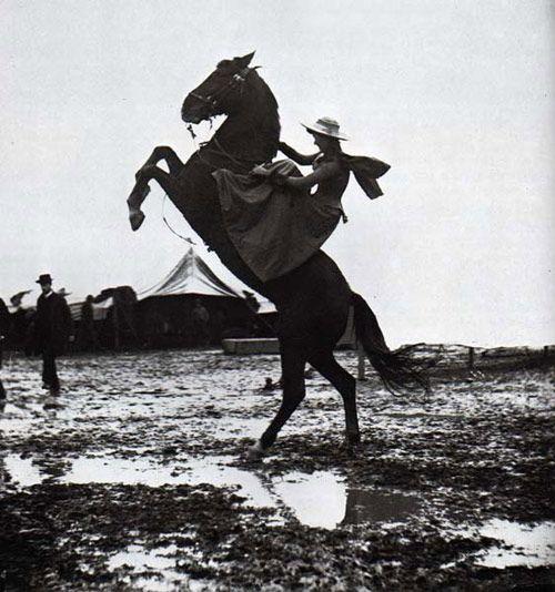 Giuseppe  Primoli, Annie Oakley, Buffalo Bill's Wild West Show, Rome, 1890.