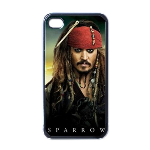 Johnny Depp Pirate of the Caribbean Kapten Jack Sparrow Apple iPhone 4 Case