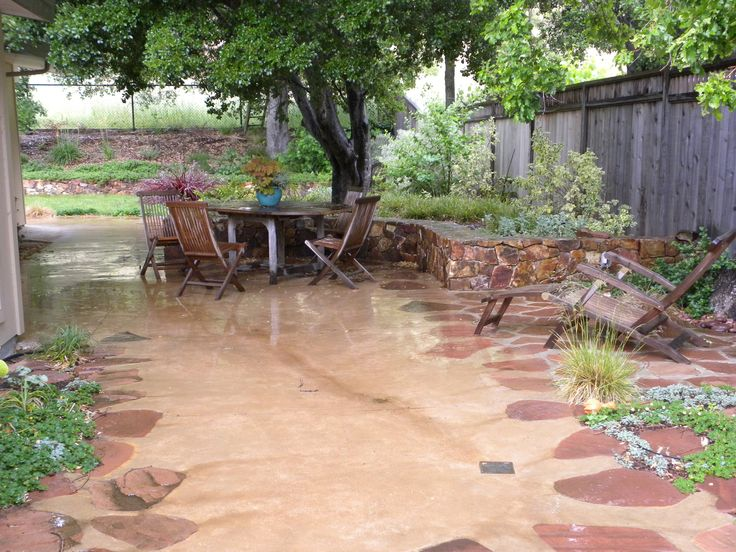 45 best patio designs images on pinterest | patio ideas, stamped ... - Low Cost Patio Ideas