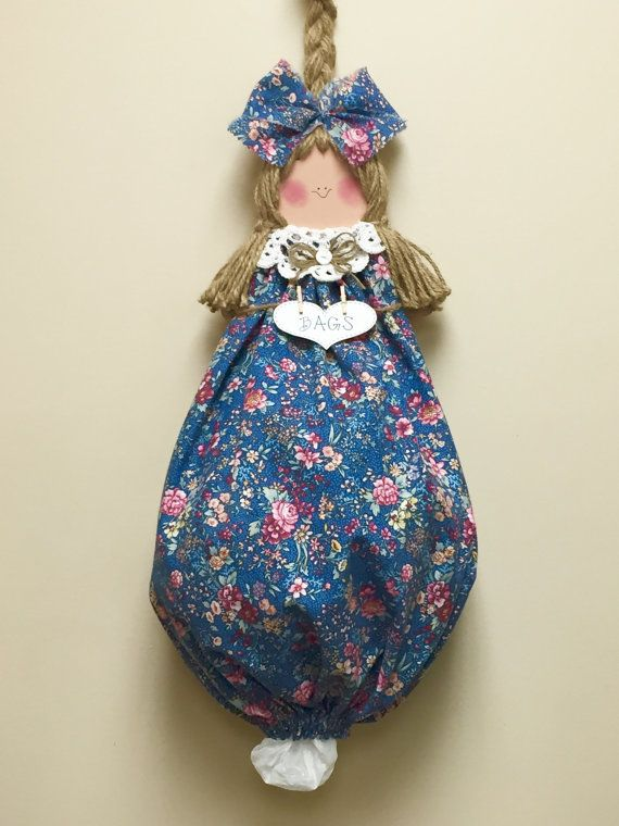 Plastic bag dispenser grocery bag holder by CountryCutieBagDolls