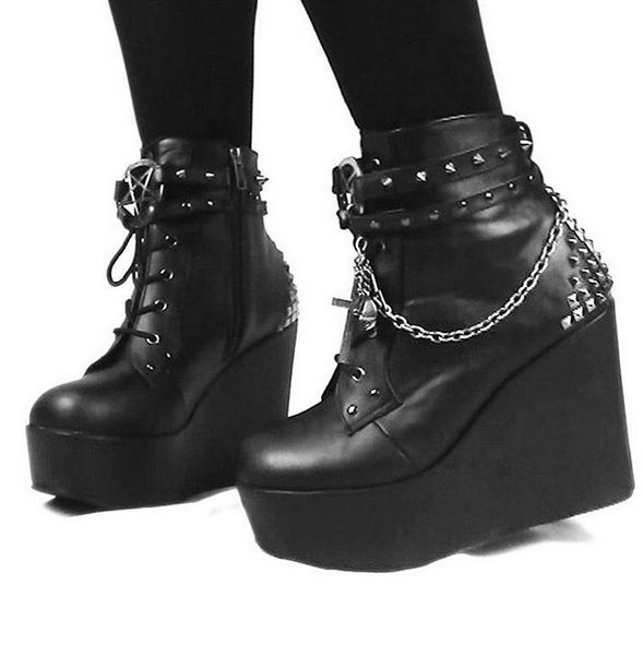 "Poison 101 5"" Wedge by Demonia ATTITUDECLOTHING.CO.UK"