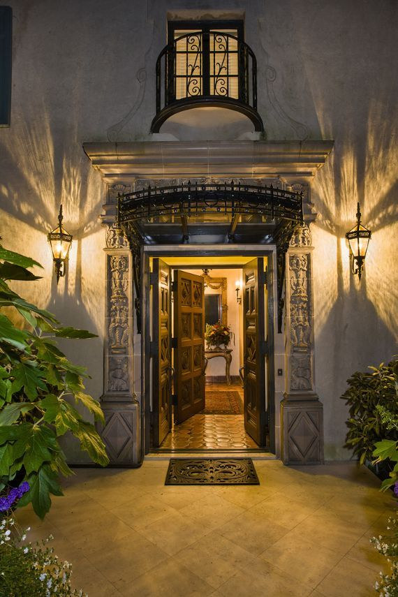 Spanish style home mediterranean architecture seattle for Beautiful front door entrances