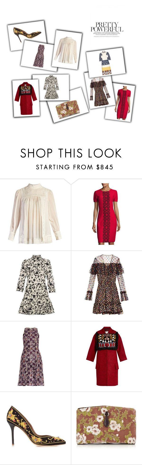 """""""Embroidered Dresses"""" by bonnielindsay on Polyvore featuring Isabel Marant, St. John, Zimmermann, Marco de Vincenzo, Mary Katrantzou, Stella Jean, Malone Souliers, Rochas and Teatum Jones"""