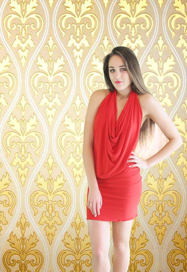 The Ravish Mini Dress in Red