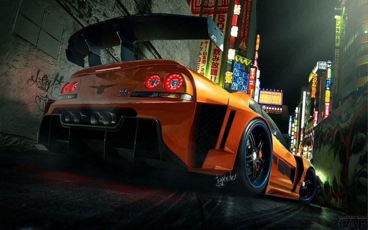 Fond d'écran avec instantané rapide voiture Nissan Skyline GT-R Z
