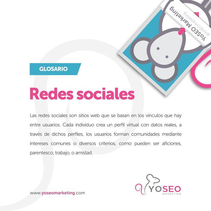 Hoy en nuestro #glosario: ¿qué son las #RedesSociales? Hoy en día podemos encontrar distintas redes sociales que, en función del objetivo del usuario, se pueden categorizar en genéricas, profesionales y temáticas. ¿Si hablamos de las más usadas en España? Siguiendo las categorías serían #Facebook, #Instagram o #Twitter como genéricas; #LinkedIn o #Viadeo como profesionales; y #Flickr, #Pinterest o #YouTube como temáticas…