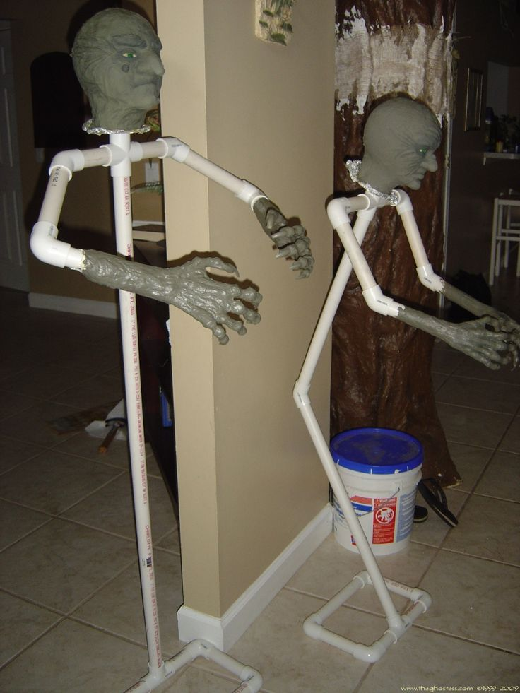 i wish i had the time and money to do this stand up figures for 150 bucks at spirit halloween is just crazy i should really start doing more paper machee - Scary Outdoor Halloween Decorations Diy
