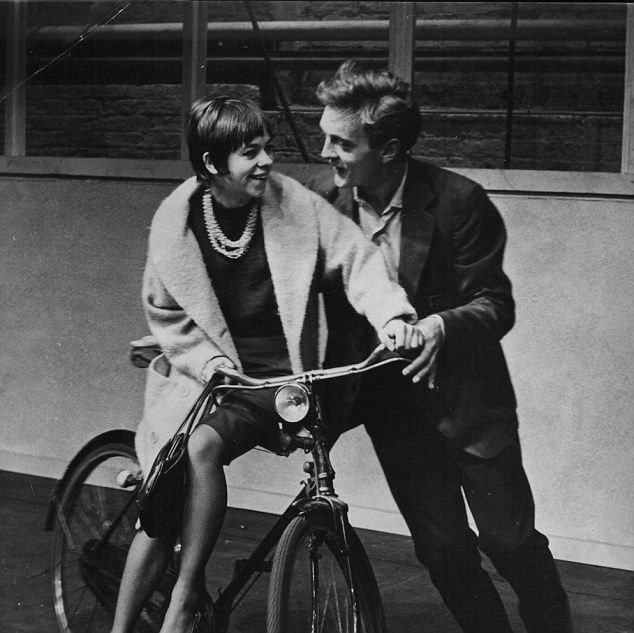 Hurt first married actress Annette Robertson, pictured in a play with David Hemmings, in 1...