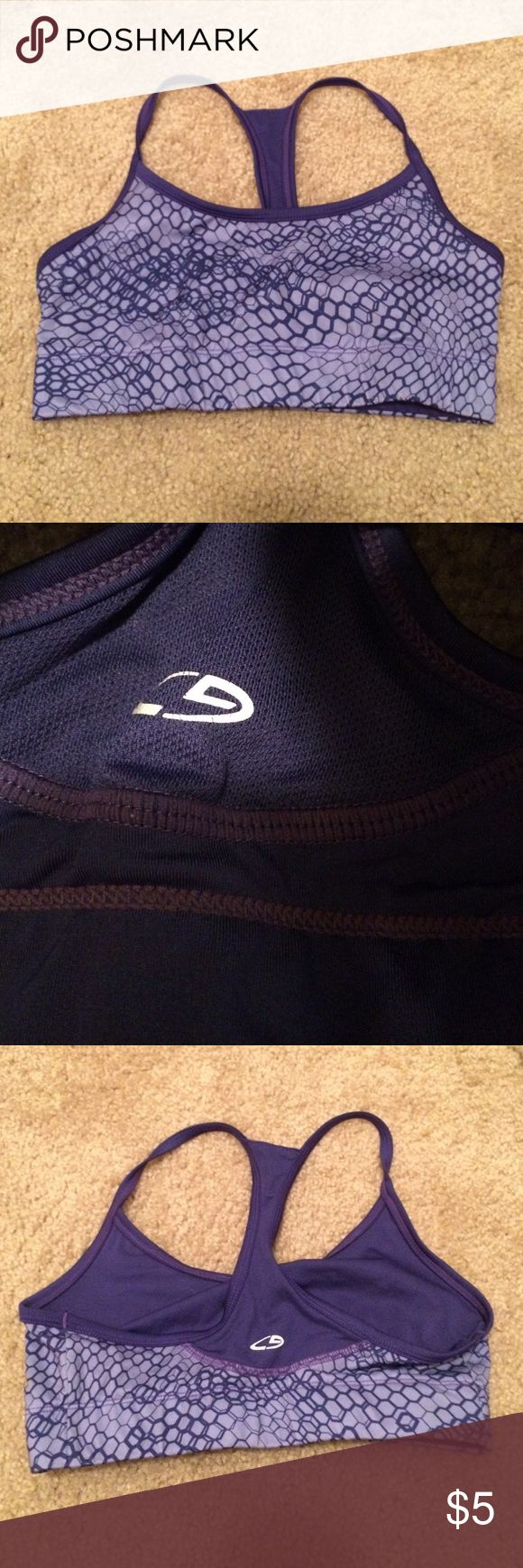 Purple snakeskin patterned sports bra Sports bra, worn once and realized I had bought the wrong size C9 Sportswear Other