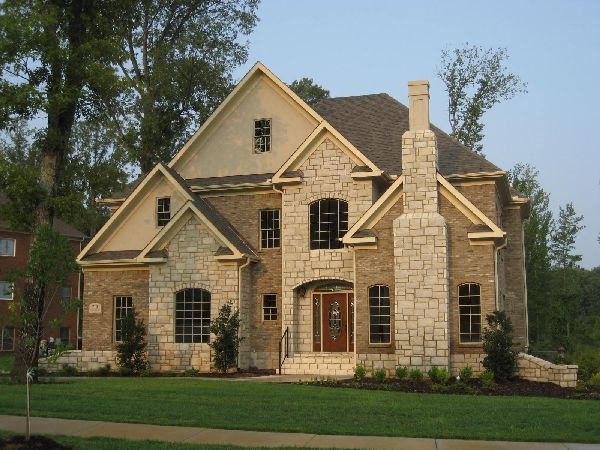 Pin by betty hawk on lake home in 2019 mansions homes - Stone brick exterior combinations ...