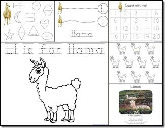 Totally tots - Now I know my ABCs - Letter L - Llama