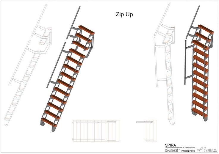 Les 25 meilleures id es concernant echelle escamotable sur for Escalier escamotable mezzanine