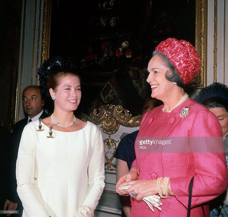 Princess Grace of Monaco with the Begum (Yvette Labrousse, fourth and last wife of Aga Khan III) june 23, 1965 at charity ball.
