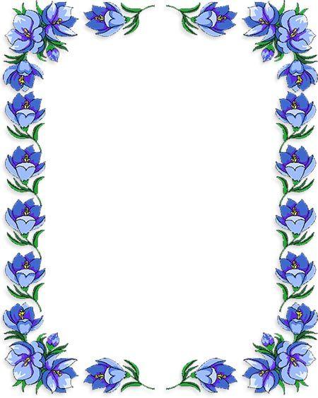 Free Flower Borders - Flower Border Clipart