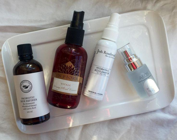 Toner/Mist Reviews – The Beauty Chef Probiotic Skin Refiner, In Fiore Vitale Essence, Josh Rosebrook Hydrating Accelerator