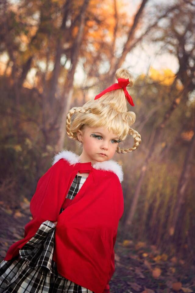 2013 Halloween- our little gal always is so precious! Ella age 3 as 'Cindy Lou Who' handmade costume by us-Ryan and Tanya photo by ShutterBee Photography