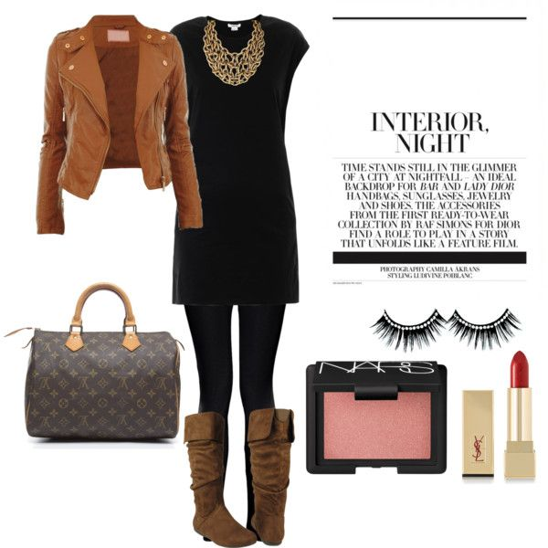 Dab an elegance on your brown high cut boots. A dinner date outfit with friends. | OUTFIT MENU ...