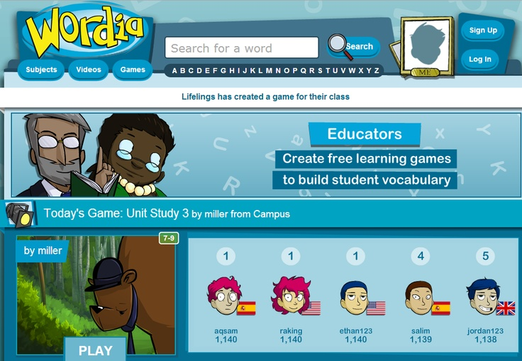 Students learn subject vocabulary through free