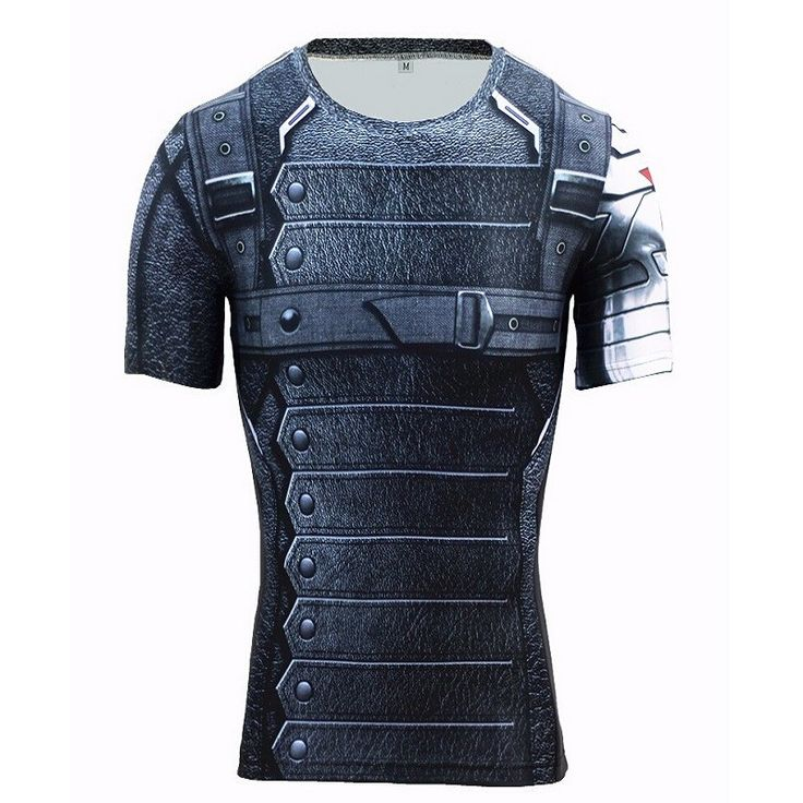 Winter Soldier 3D Printed  Running T-shirts Men Long Sleeve Captain America Civil War Tee iron man Fitness Male Crossfit Tops