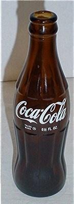 1960s Amber Glass Bottle Dayton Ohio Coca-Cola US