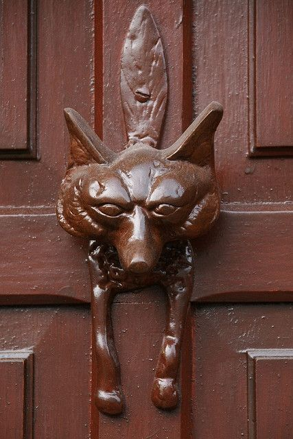 Antique Door Knocker Fox