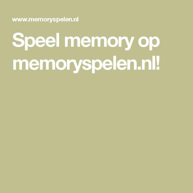 Speel memory op memoryspelen.nl!