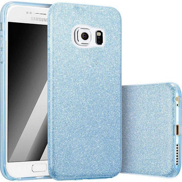 Smartphone-Hülle »3 in 1 Glitzer Handyhülle für das Samsung Galaxy ...