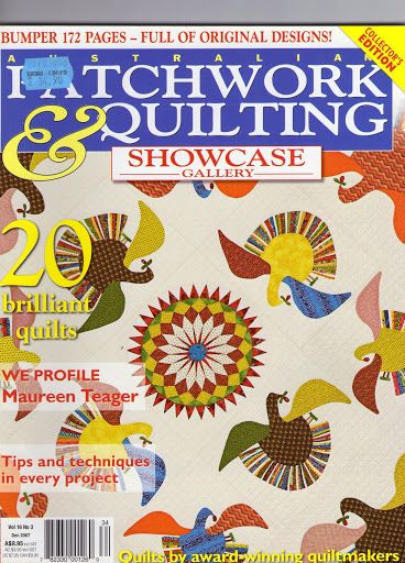 patchwork ¨quilting 2007 incomplete instructions few pattern pages, no series quilts