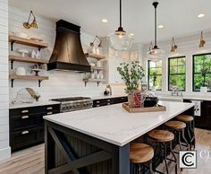 Modern Farmhouse Kitchen Dark Cabinets 850 best images about home on pinterest | home, kitchen and upper
