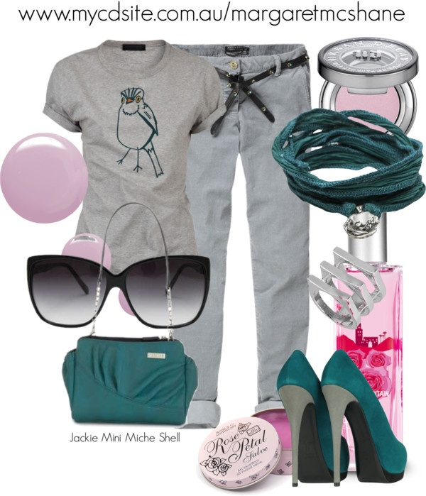 """Jackie Mini Miche Shell"" by mcshanes on Polyvore"