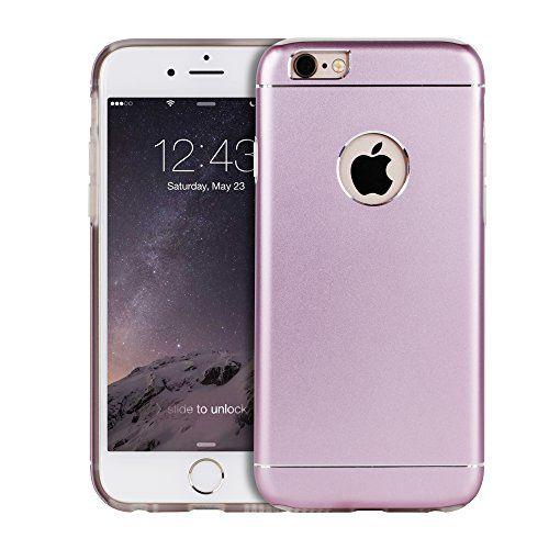 Premium Apple iPhone Aluminum Schutzhülle.Back Case mit Silikon Inlay und Logo-Ausschnitt in lila.