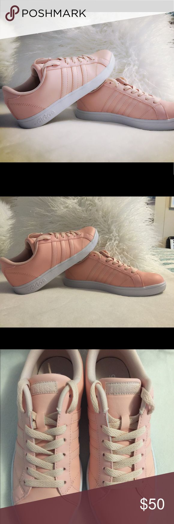 Women's Adidas Baseline Super adorable 👟 worn once for a couple of hrs basically new,I no longer have the box!the size is a women's 6 but the shoes run big I usually wear a 7 and had to sized down,the color is a peachy pink !! adidas Shoes Athletic Shoes