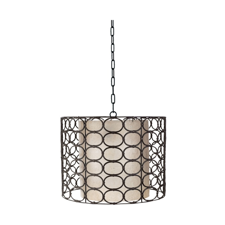 weathered drum gray lamp pendant for office