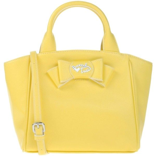 Braccialini Handbag ($84) ❤ liked on Polyvore featuring bags, handbags, yellow, beige purse, mini hand bags, yellow hand bags, mini handbags and mini purses