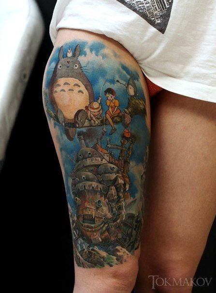 Howls moving castle i think it 39 s dope either way for Studio 7 tattoo
