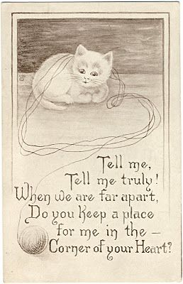 Vintage Clip Art - Adorable Cats - Kittens - The Graphics Fairy:
