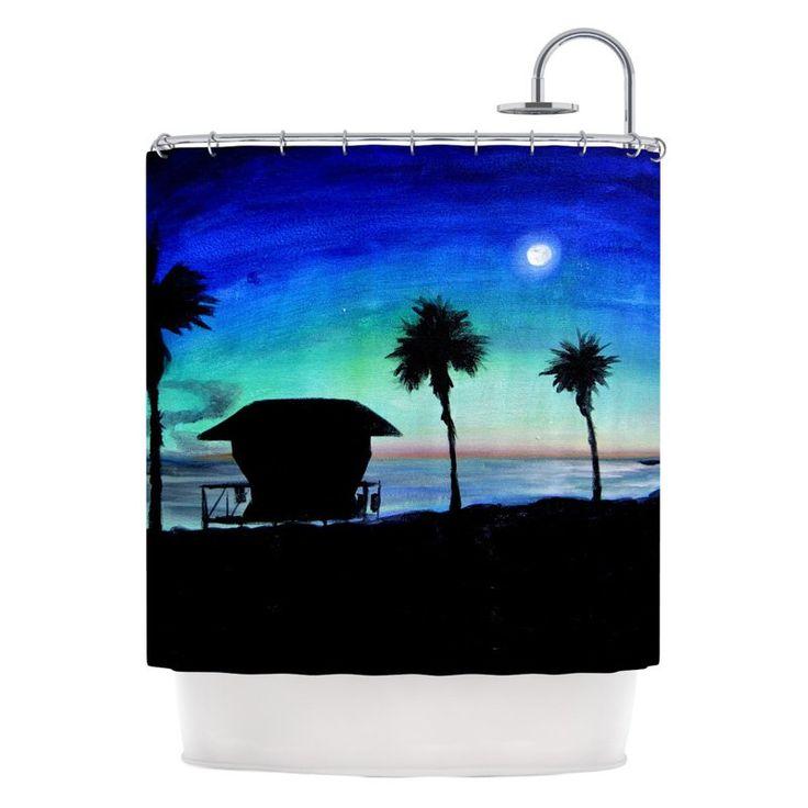 Kess Inhouse Theresa Giolzetti Carlsbad State Beach Shower Curtain - TW1018ASC01