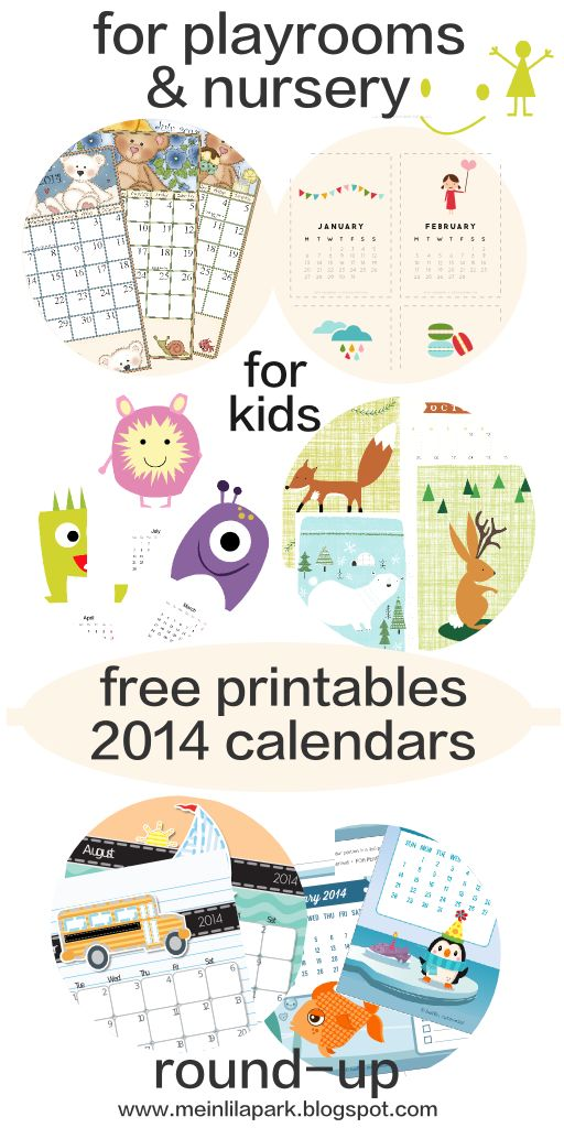 Calendar Ideas Nursery : Free printable calendars kids will love children
