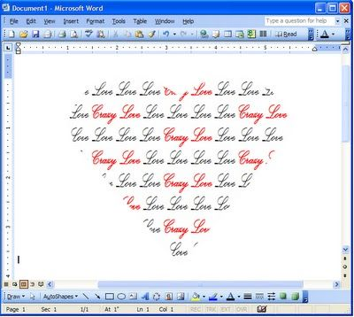 How to make words fill a shape on Word.
