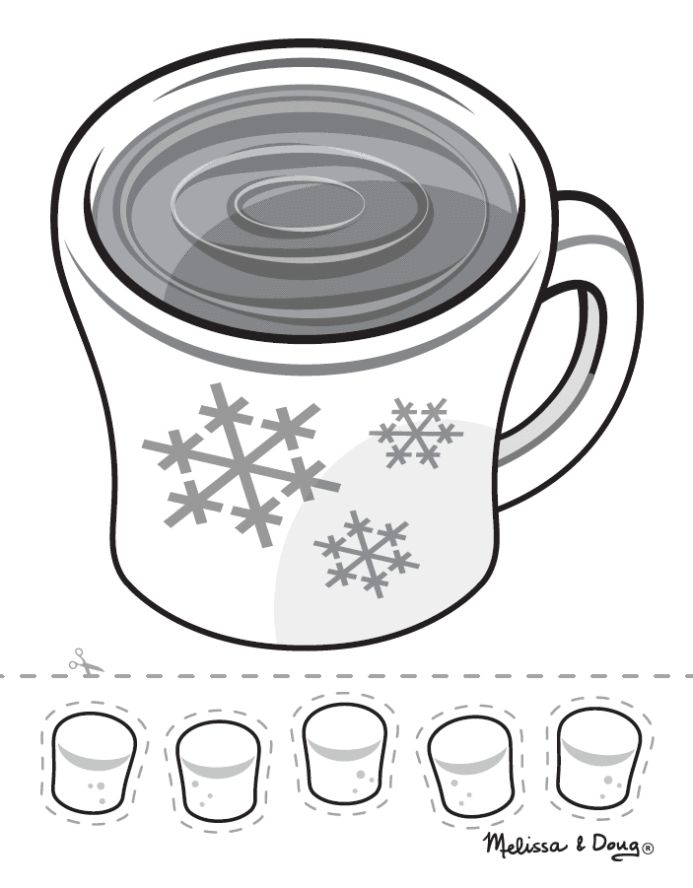 hot chocolate sensory craft for kids click to download and print pdf