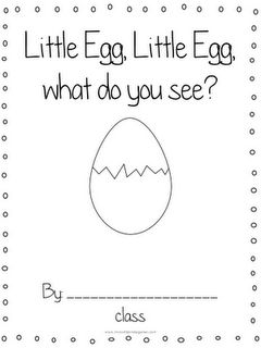 Free oviparous animals printable book. Perfect for an Easter Egg unit.