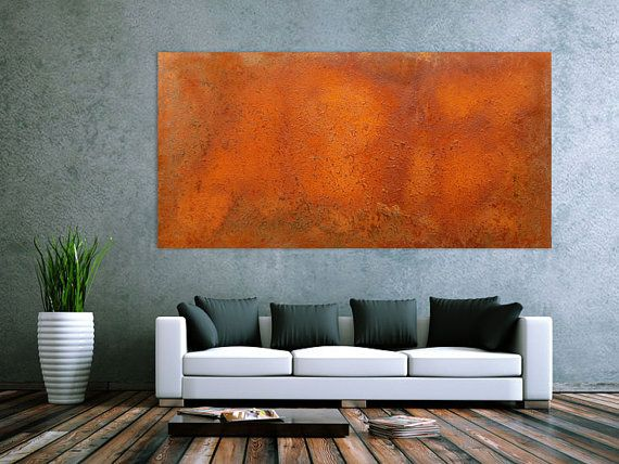 200x100cm ECHTER ROST abstraktes Rostbild auf Leinwand by xxlartde, €499.00