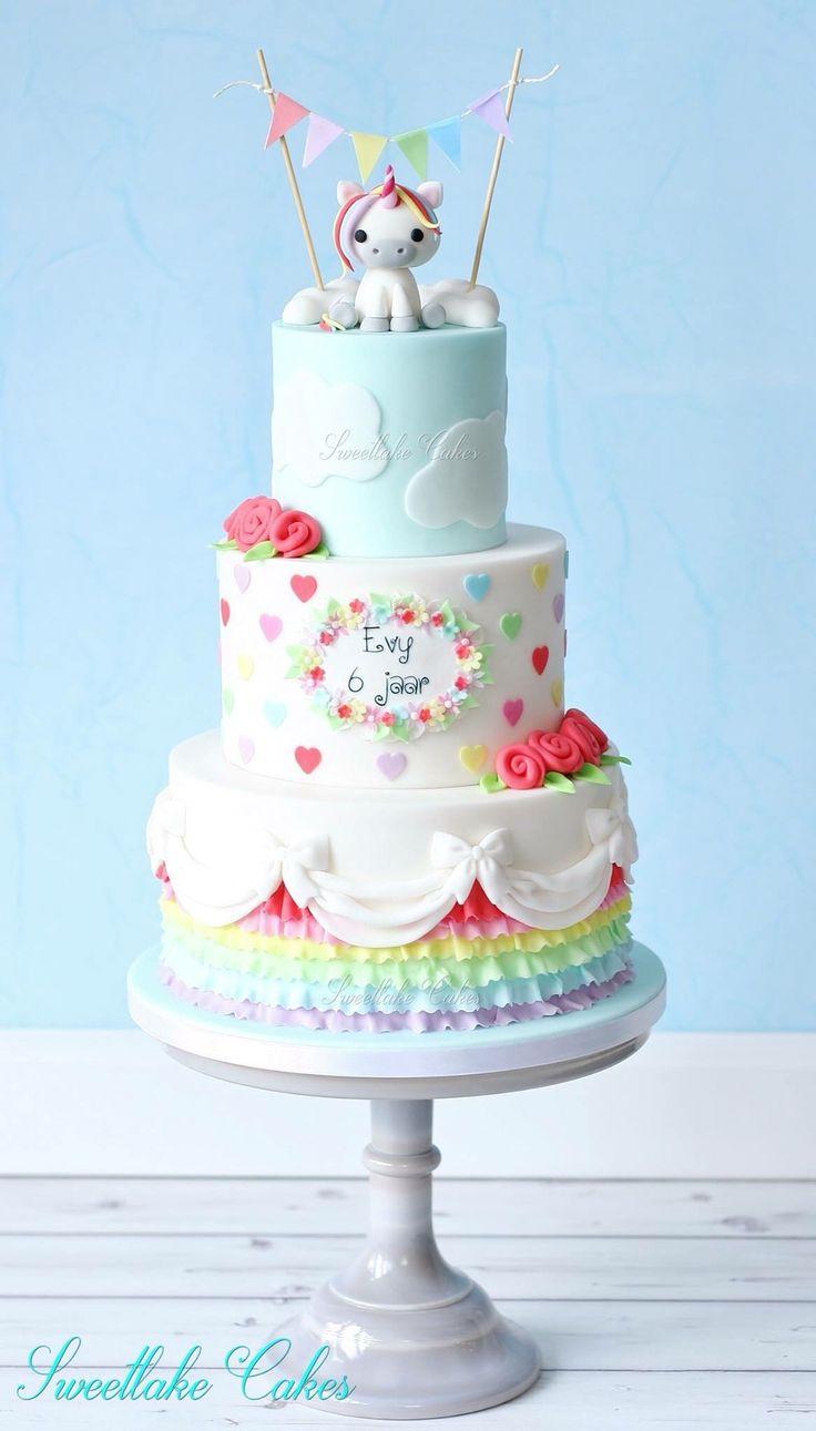 Rainbow cake unicorn