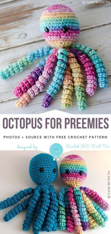 Octopus For Preemies Free Crochet Pattern Crochet