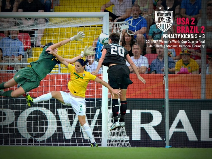 """One year ago today. To quote Ian Darke: """"Oh, do you believe it? Abby Wambach has saved the USA's life in this World Cup!"""" (U.S. Soccer/Facebook)"""