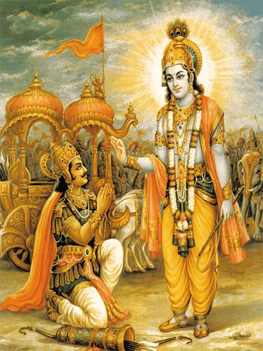 The Bhagavad Gita, also referred to as Gita, is a 700–verse Dharmic scripture that is part of the ancient Sanskrit epic Mahabharata. This scripture contains a conversation between Pandava prince Arjuna and his guide Krishna on a variety of philosophical issues.<p><br>Faced with a fratricidal war, a despondent Arjuna turns to his charioteer Krishna for counsel on the battlefield. Krishna, through the course of the Gita, imparts to Arjuna wisdom, the path to devotion, and the doctrine of…
