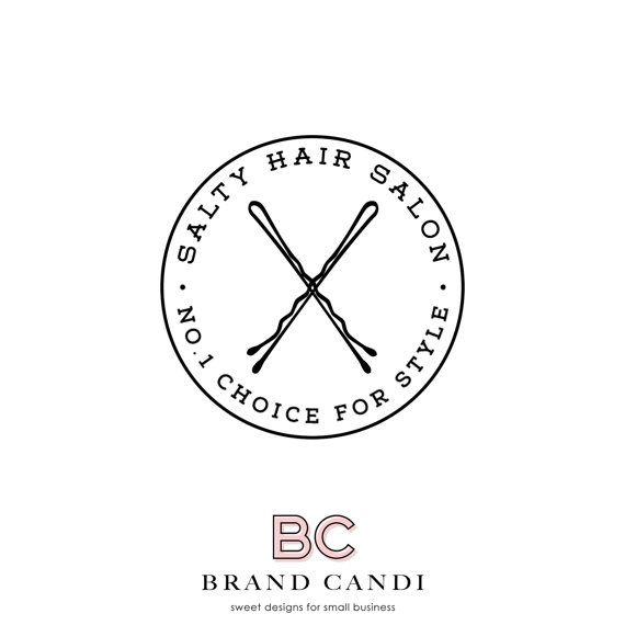 Premade Logo Design Modern Logo Hair Salon Logo by BrandCandi