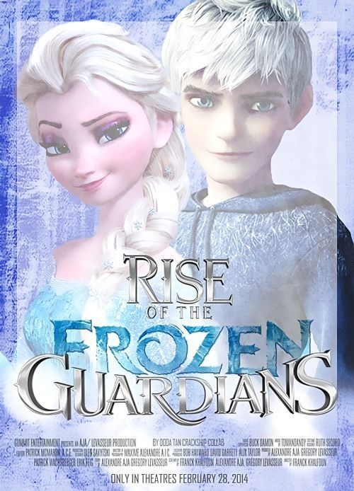Rise Of The Frozen Guardian Queen Elsa and Jack Frost